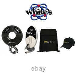 Whites MX Sport Metal Detector Accessory Pack with 2 Coils Baseball Cap and Bag