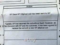 XP Deus Elliptical coil (Brand New) for use on Deus or ORX